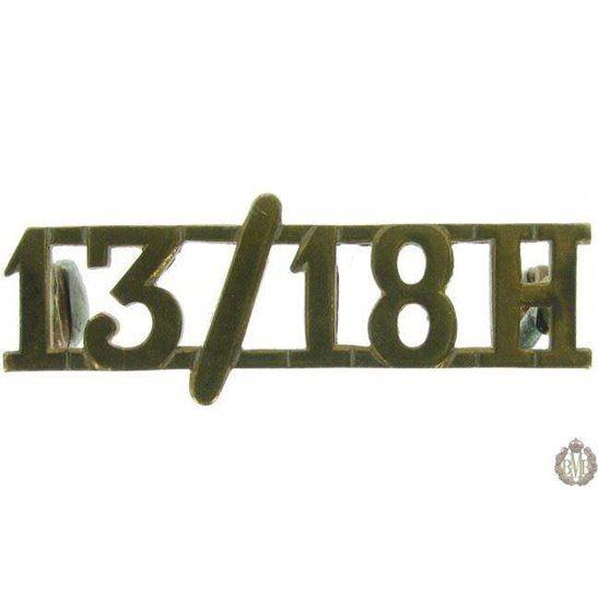 1F/079 - 13th/18th Hussars Regiment Shoulder Title