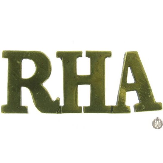 1F/091 - Royal Horse Artillery RHA Shoulder Title