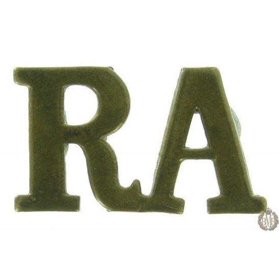 1F/109 - Royal Artillery RA Shoulder Title