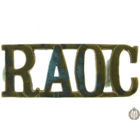 1F/115 - Royal Army Ordnance Corps RAOC Shoulder Title