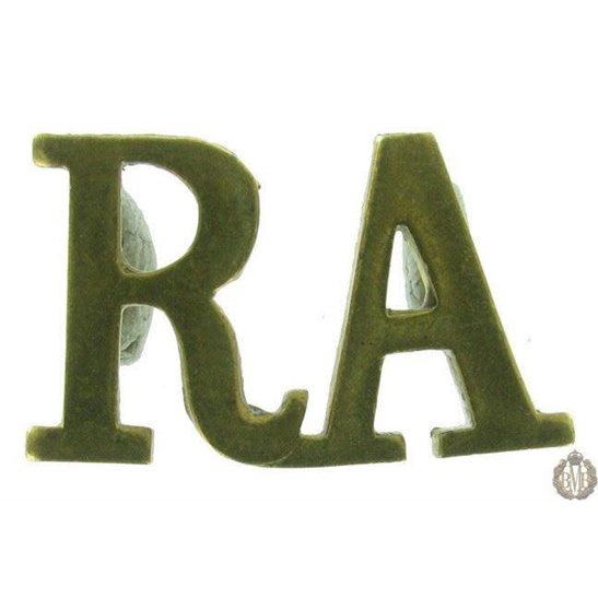 1F/123 - Royal Artillery RA Shoulder Title