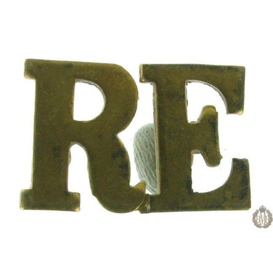 1F/124 - Royal Engineers RE Shoulder Title