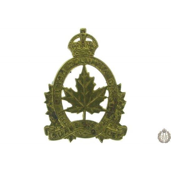 1G/004 - British Columbia Dragoons Canadian Regiment Cap Badge
