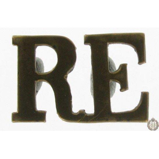 1I/129 - Royal Engineers RE Shoulder Title