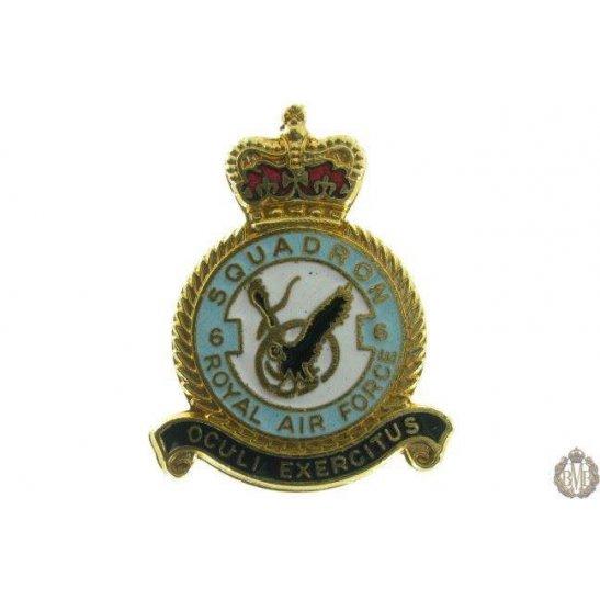 6 Squadron Royal Air Force Lapel Badge RAF