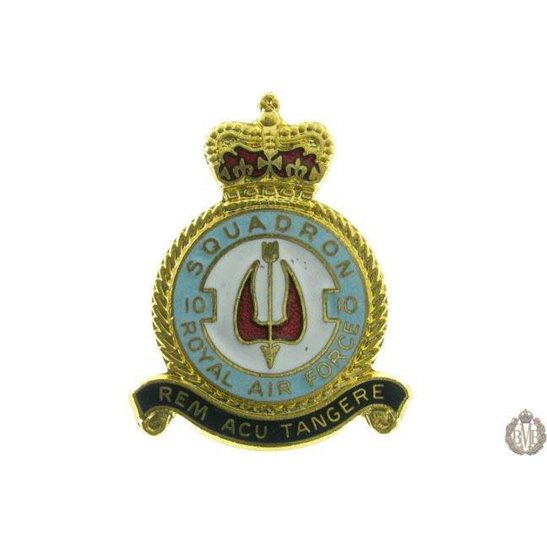 10 Squadron Royal Air Force Lapel Badge RAF