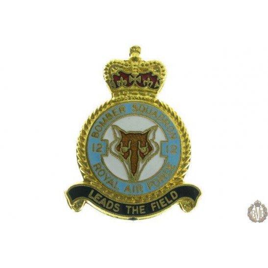 12 Bomber Squadron Royal Air Force Lapel Badge RAF