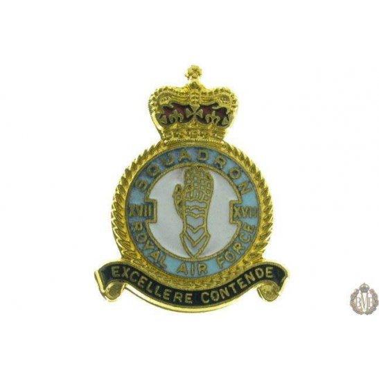 17 (XVII) Squadron Royal Air Force Lapel Badge RAF