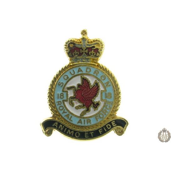 18 Squadron Royal Air Force Lapel Badge RAF