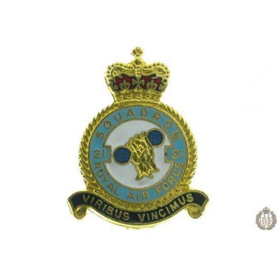 21 Squadron Royal Air Force Lapel Badge RAF
