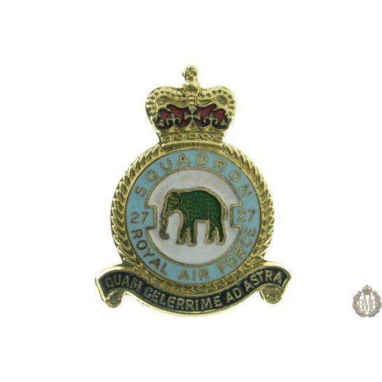 27 Squadron Royal Air Force Lapel Badge RAF