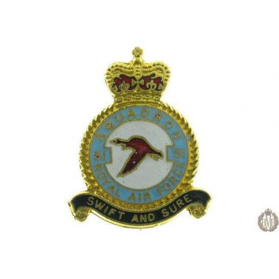 51 Squadron Royal Air Force Lapel Badge RAF