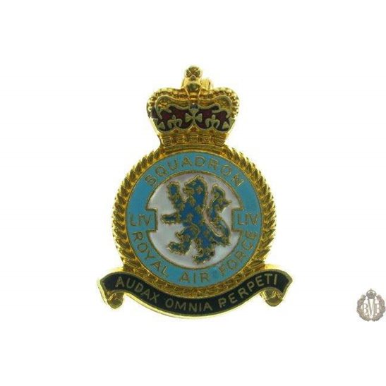 54 (LIV) Squadron Royal Air Force Lapel Badge RAF