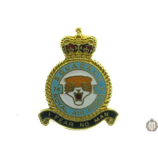 74 (Tiger) Squadron Royal Air Force Lapel Badge RAF