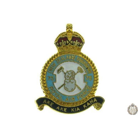 75 (New Zealand) Squadron Royal Air Force Lapel Badge RAF