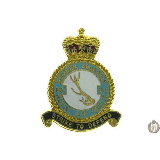 83 Bomber Squadron Royal Air Force Lapel Badge RAF