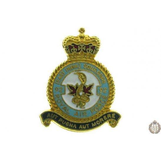 92 (East India) Squadron Royal Air Force Lapel Badge RAF