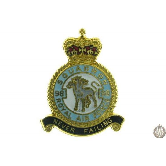 98 Squadron Royal Air Force Lapel Badge RAF