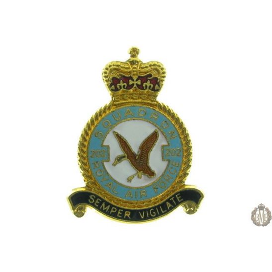 202 Squadron Royal Air Force Lapel Badge RAF