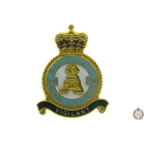 208 Squadron Royal Air Force Lapel Badge RAF