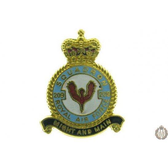 209 Squadron Royal Air Force Lapel Badge RAF