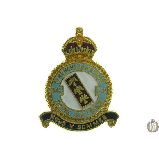 342 (French) Squadron Royal Air Force RAF Lapel Badge