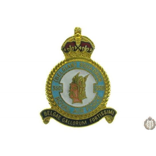 350 (Belgian) Squadron Royal Air Force RAF Lapel Badge