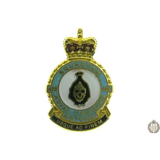 428 Squadron Royal Canadian Air Force Lapel Badge RCAF