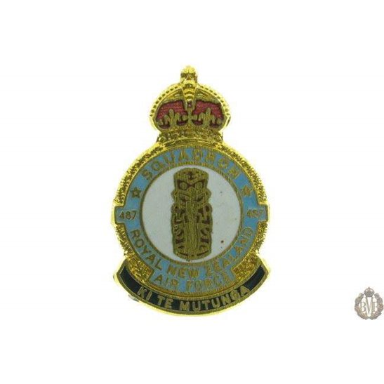 487 Squadron Royal New Zealand Air Force Lapel Badge
