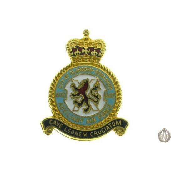 602 Auxiliary Squadron Royal Air Force Lapel Badge