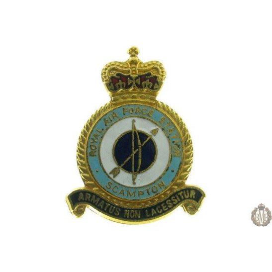 Scampton Airport Station Royal Air Force RAF Lapel Badge