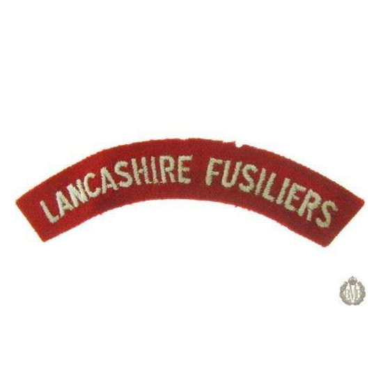 1I/148 - Lancashire Fusiliers Regiment Cloth Shoulder Title