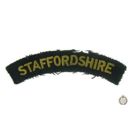 1I/157 - The Staffordshire Regiment Cloth Shoulder Title