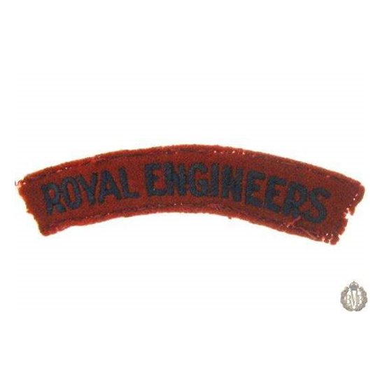 1I/158 - Royal Engineers Corps RE Cloth Shoulder Title