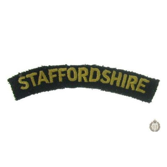 1I/159 - The Staffordshire Regiment Cloth Shoulder Title