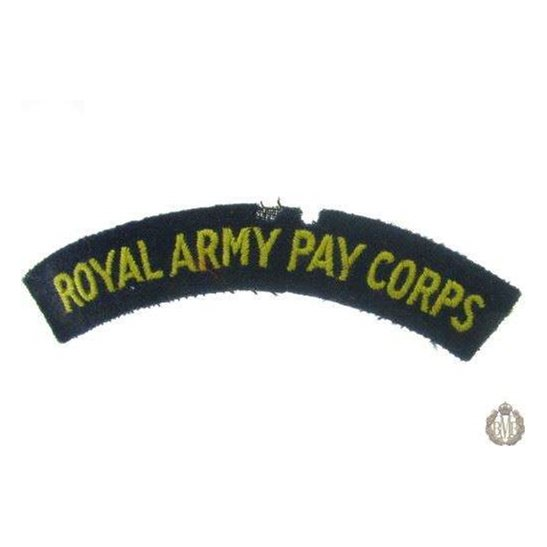 1I/166 - Royal Army Pay Corps RAPC Cloth Shoulder Title