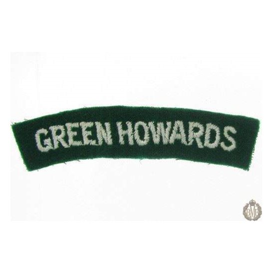 1I/174 - The Green Howards Regiment Cloth Shoulder Title