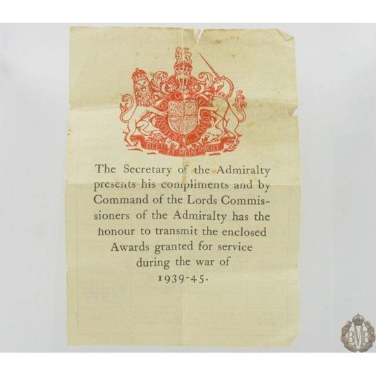 1B/056 - WW2 1939 - 1945 Original Medal Box Slip