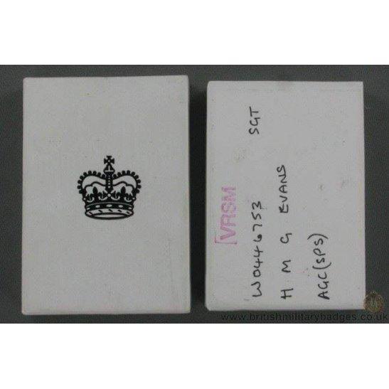 N1A/87 - Queen Elizabeth II Medal Issue Postage Box