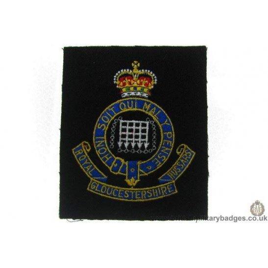 R1A/14 - Royal Gloucestershire Hussars RGH Regiment Blazer Badge