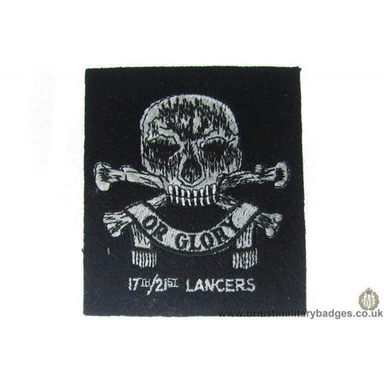 R1A/26 - 17th/ 21st Lancers Regiment Blazer Badge
