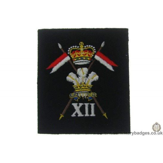 R1A/33 - 12th Lancers Regiment Blazer Badge