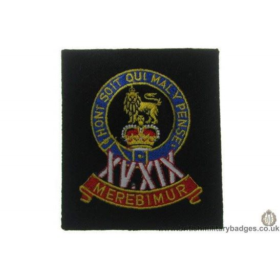 R1A/38 - 15th / 19th Hussars Regiment Blazer Badge