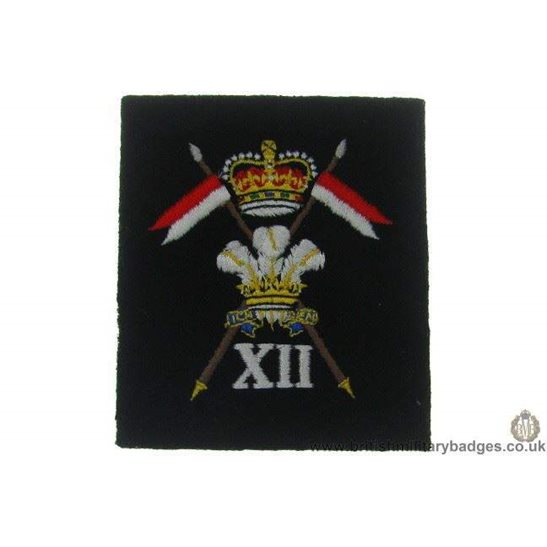R1A/41 - 12th Lancers Regiment Blazer Badge