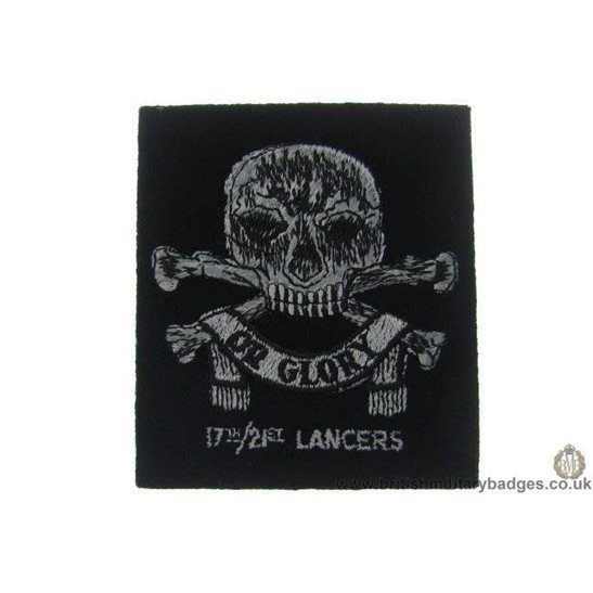 R1A/42 - 17th/ 21st Lancers Regiment Blazer Badge