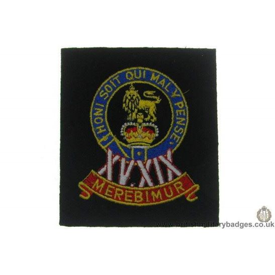 R1A/46 - 15th / 19th Hussars Regiment Blazer Badge