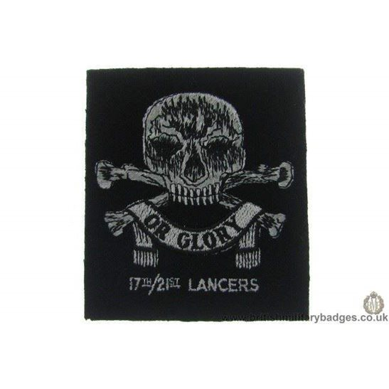 R1A/61 - 17th/ 21st Lancers Regiment Blazer Badge