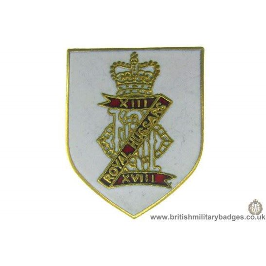 S1A/21 - 13th / 18th Royal Hussars Regiment Lapel Badge