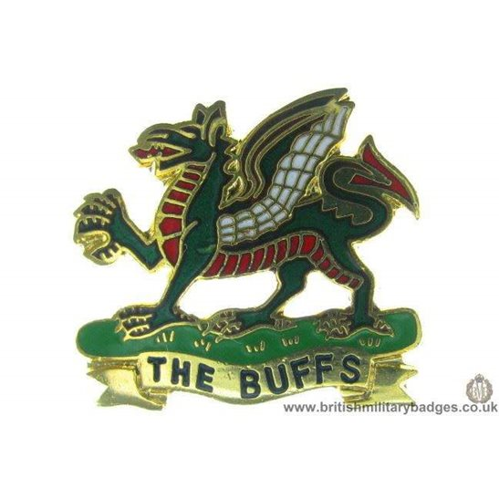 "S1A/49 - Royal East Kent ""The Buffs"" Regiment Lapel Badge"