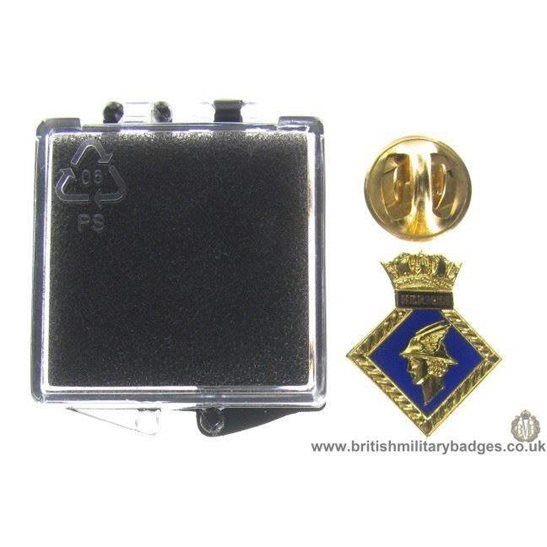 S1A/81 - HMS Hermes Royal Navy Veteran's Lapel Badge & Box